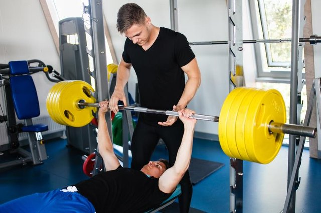 Bench Press Workout With a Personal Trainer.