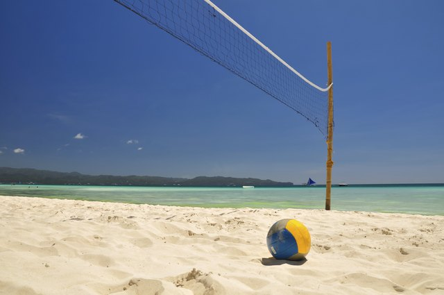 Beach volleyball net on Boracay - Philippines