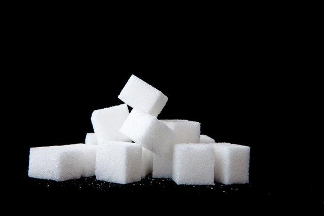 Sugar lumps piled up together