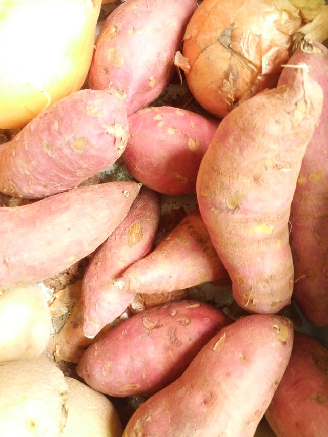Sweet potato Background