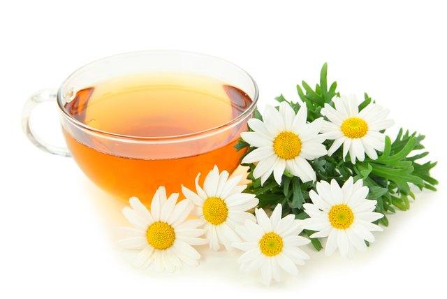 Herbal camomile tea