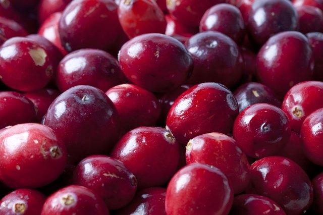 Close up Cranberries full frame