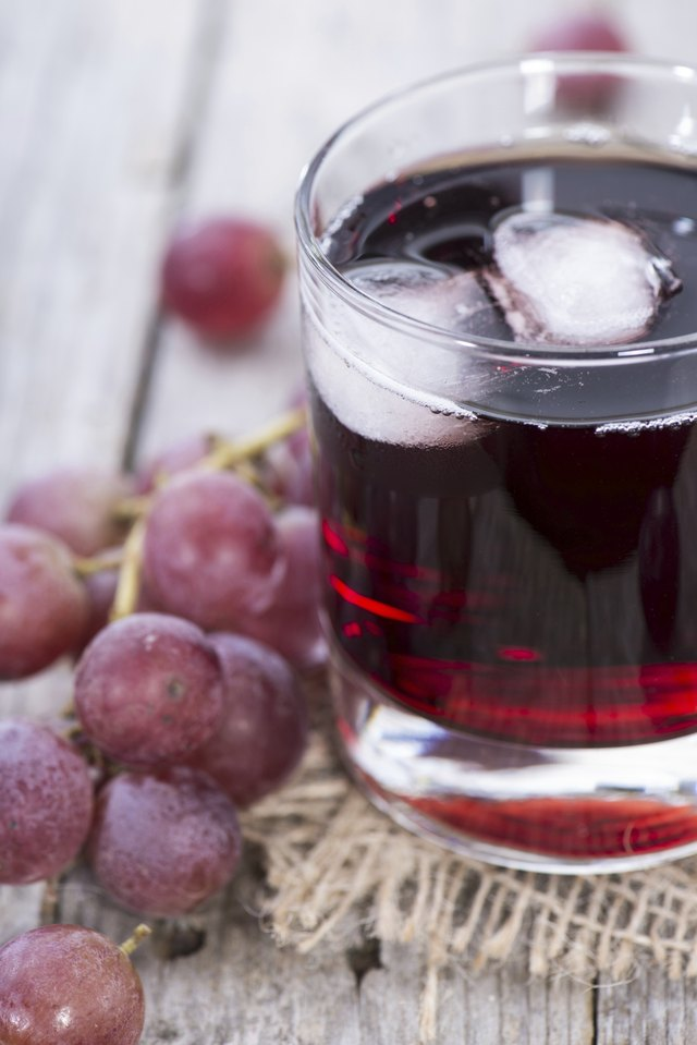 Grape Juice with Ice