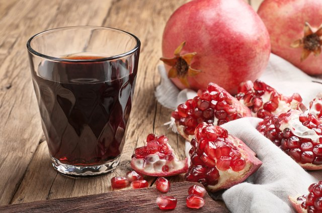 Pomegranate juice with pieces of Pomegranate