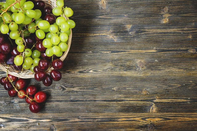 grapes in a wicker basket