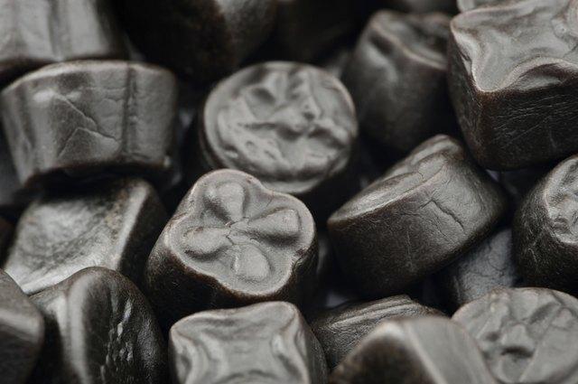 Black liquorice candy background