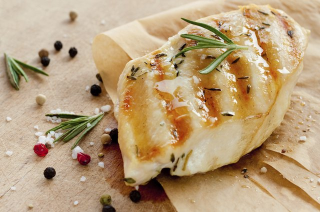 Grilled chicken breast with rosemary