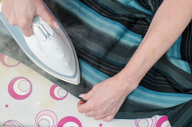 Ironing of a shirt