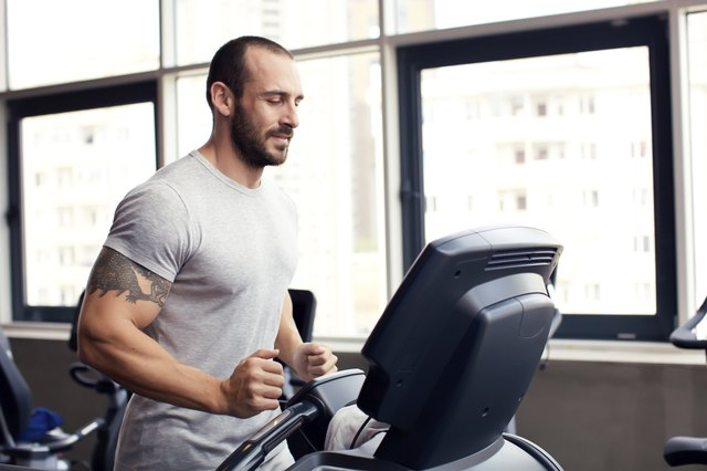 Running at the fitness club - Stock Image