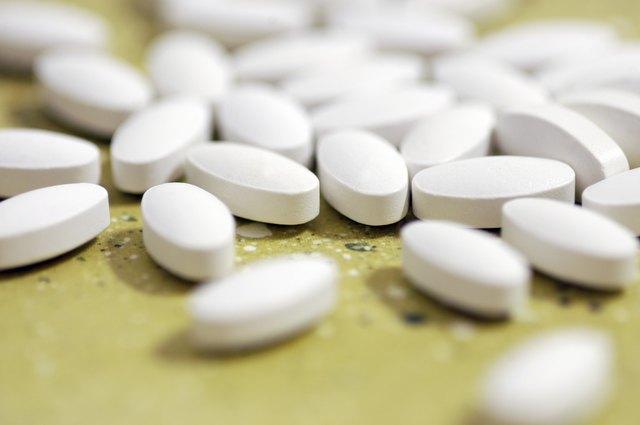 White pills on desk