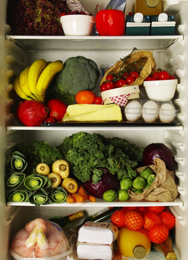 Refrigerator full of ingredients