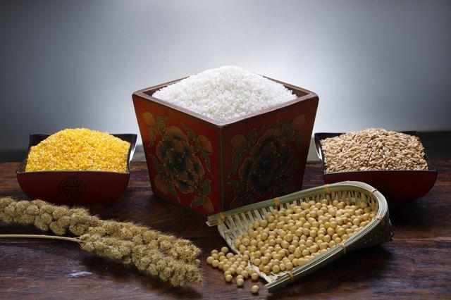 Rice,corn and wheat