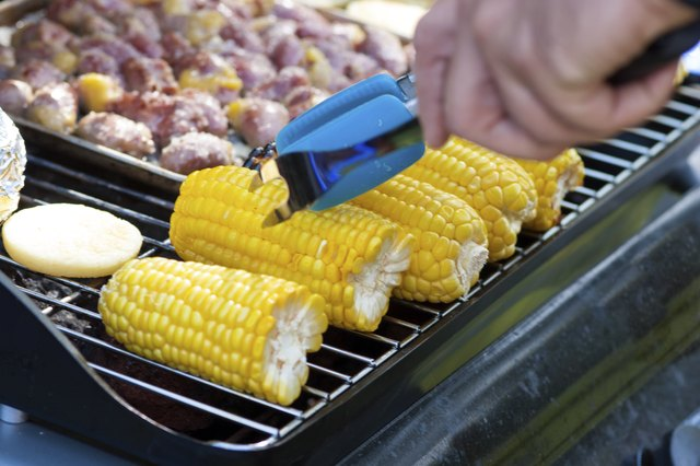 Grilled Corn And Meat
