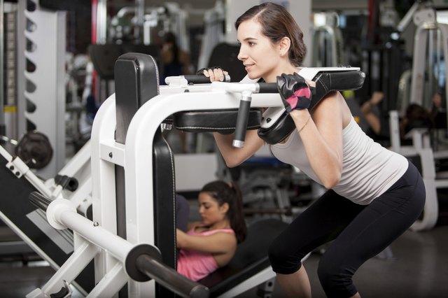Pretty brunette at a gym