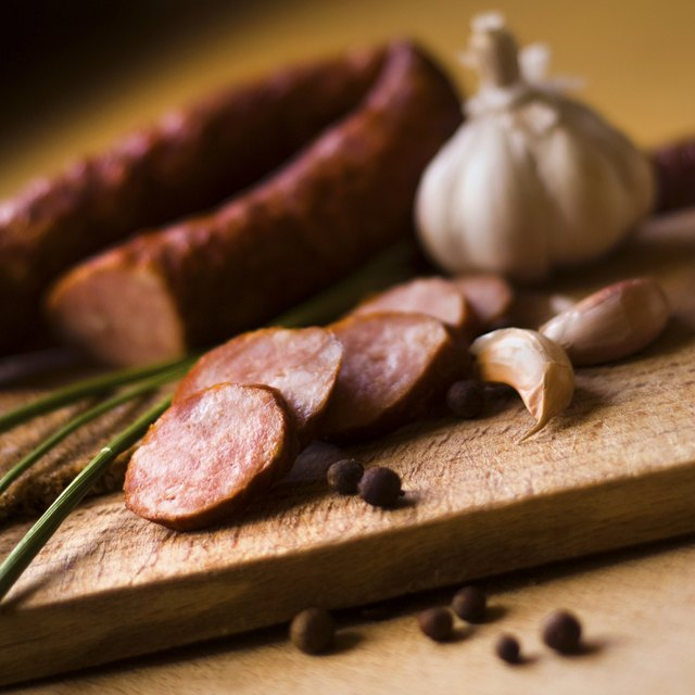 Sausage and spices