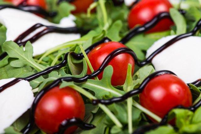 Italian salad with tomatoes,mozzarella, fresh basil and balsamic