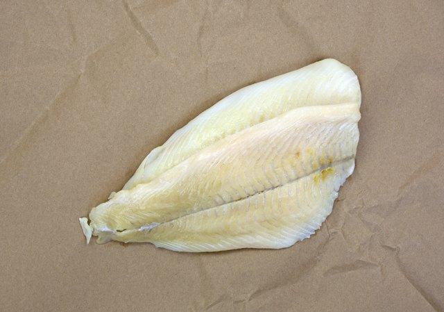 Flounder fillets on butcher paper