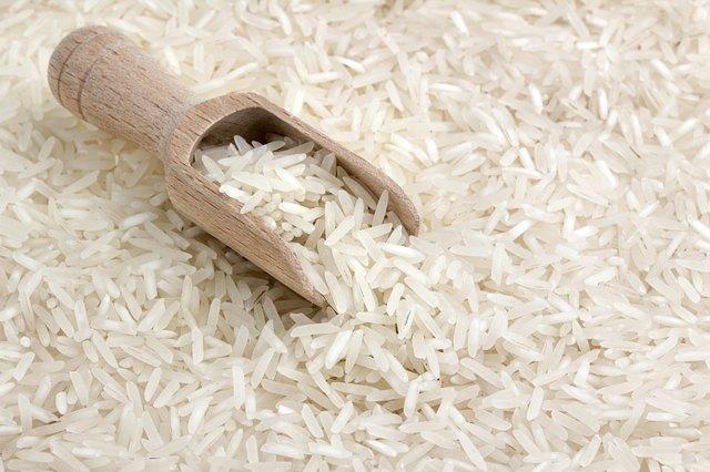 close up of basmati rice