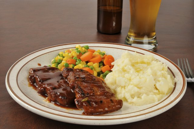 Barbecued pork and beer