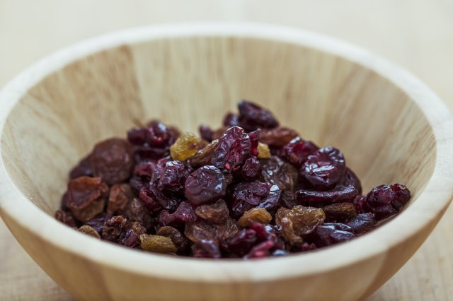 Cranberry and raisin