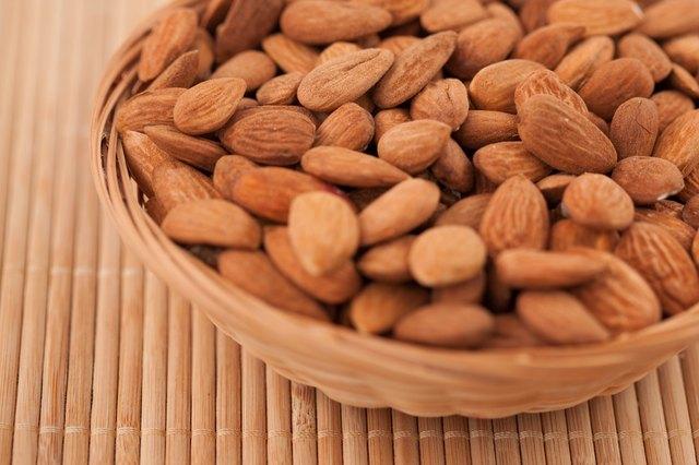 Bowl full of almonds