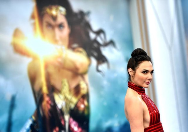 """HOLLYWOOD, CA - MAY 25: Actress Gal Gadot arrives at the Premiere of Warner Bros. Pictures' """"Wonder Woman"""" at the Pantages Theatre on May 25, 2017, in Hollywood, California. (Photo by Frazer Harrison/Getty Images)"""