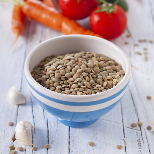 raw lentil for cooking