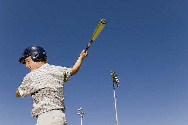 Batter Warming Up in Baseball Game