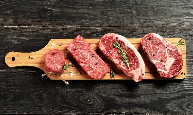 Grass fed steaks for muscle building diet