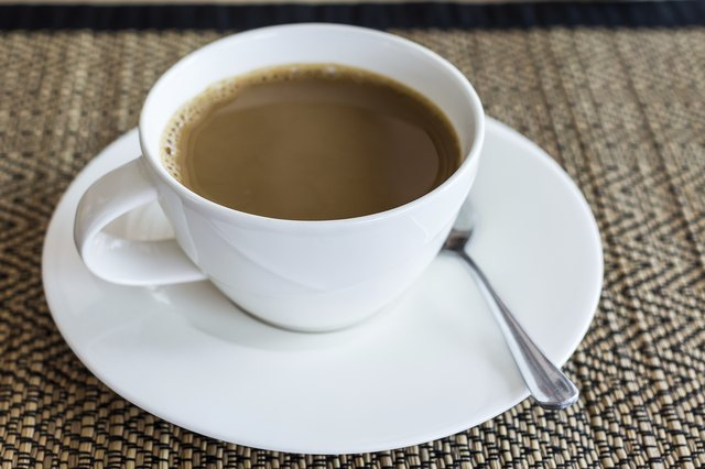 Close-up of a coffee cup - Stock Image