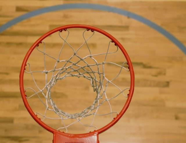 Bird-eye view of Basket Ball Hoop