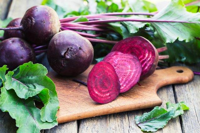 Fresh beet on wooden background