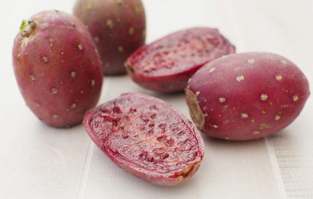 Cactus pears fruit cut