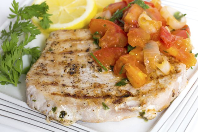 Marlin and salsa dinner