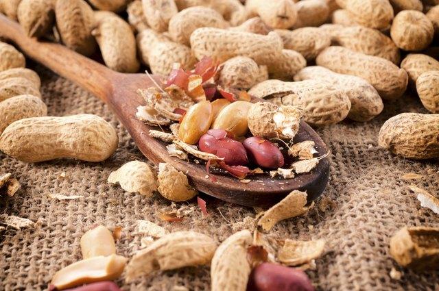 Peanuts on ladle