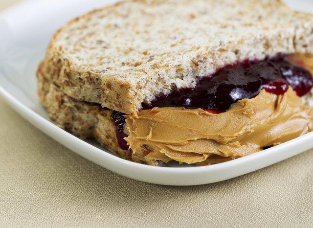 Tasty Creamy Peanut Butter and Jelly Sandwich