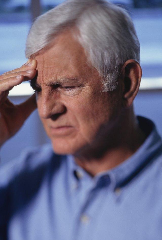 Man with headache, (Close-up)