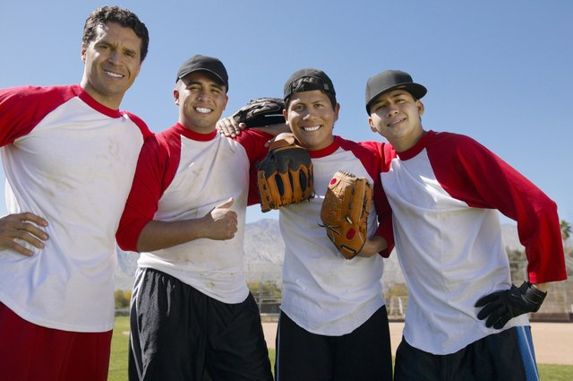 Portrait of Men in a Baseball Team