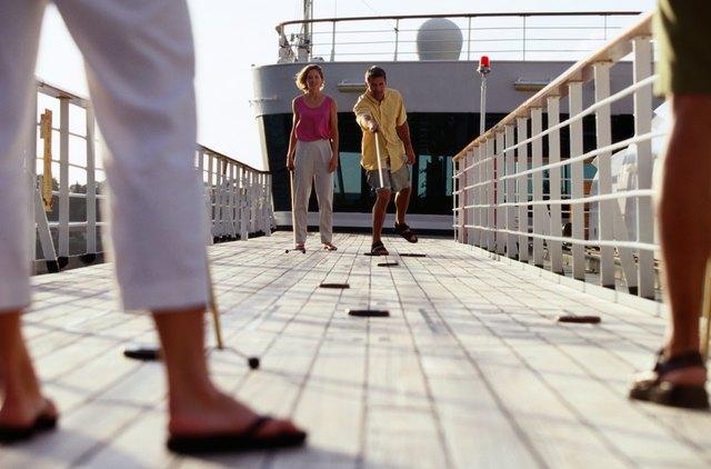 Shuffleboard on Caribbean Cruise