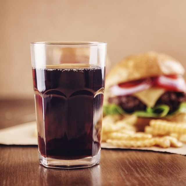 Cola with burger