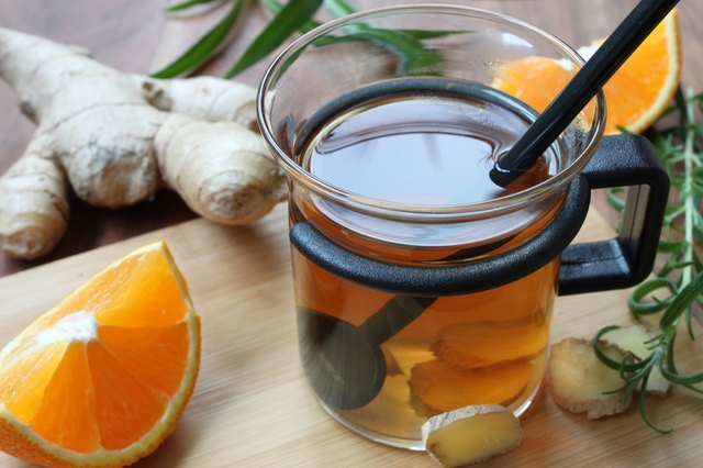 ginger tea with orange