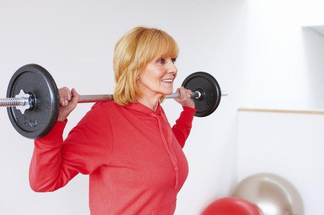 Senior Woman Performing Squats