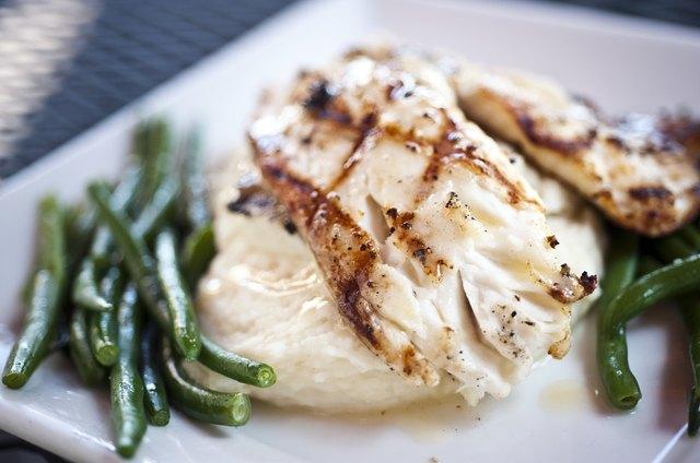 Grilled fillet of fish
