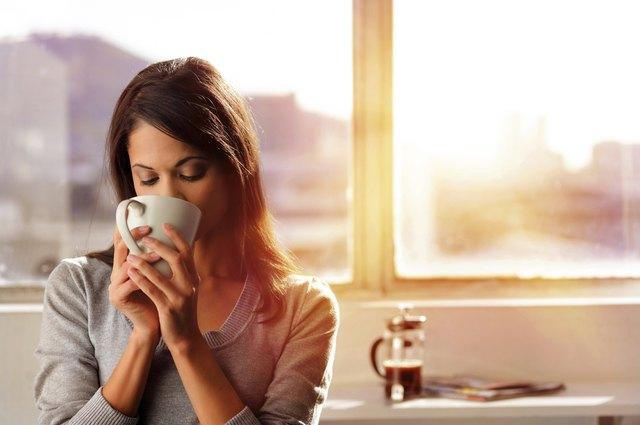 sunrise coffee woman
