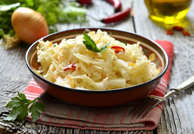 Sour cabbage,traditional dish of russian cuisine.