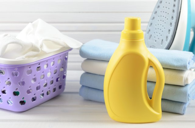 blank yellow detergent bottle