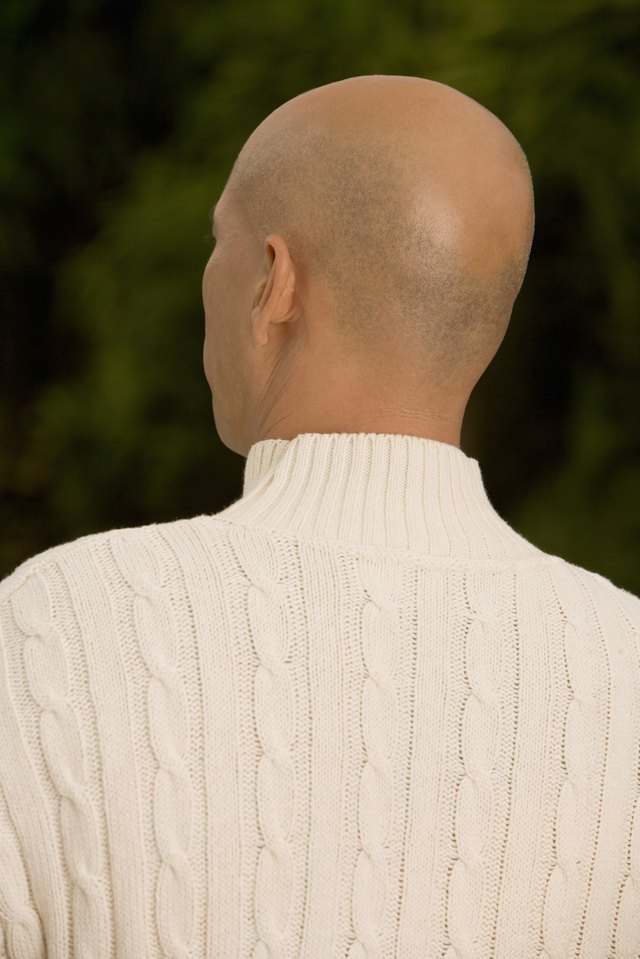 Rear view of a mature man