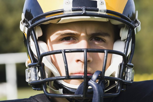 Portrait of a football player