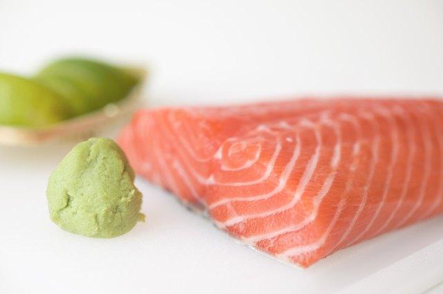 Salmon and wasabi