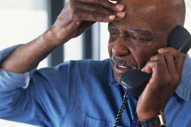 Office worker talking on phone